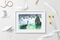 Stormy sea watercolor Tropical beach art DIGITAL DOWNLOAD   Etsy Turquoise Home Decor, Stormy Sea, Gift Of Time, Beach Art, Printable Wall Art, Watercolor Paintings, Original Artwork, Tropical, Hand Painted