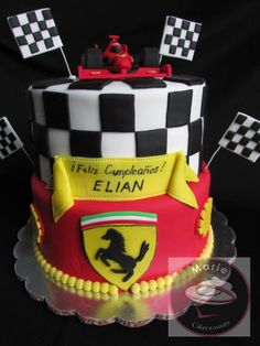 Pastel ferrari, ferrari cake Ferrari Cake, Ferrari Party, Cake Cookies, Cupcakes, Boy Birthday, Birthday Cakes, Power Ranger Birthday, Race Car Party, Cakes For Boys