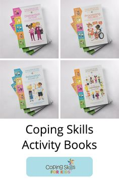 Activity books to help kids explore their coping skills in a playful fun way. Take a peek at what we have in store now! Anger Coping Skills, Coping Strategies For Stress, Coping Skills Activities, Self Esteem Activities, Counseling Activities, Elementary School Counselor, School Counseling, Activity Books, Book Activities