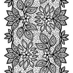 dentelle dessin: Vieux motif de dentelle transparente, bordure ornementale. Vecteur texture.
