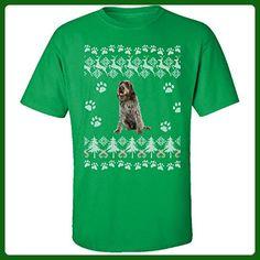 Wirehaired Pointing Griffon Ugly Christmas Sweater - Adult Shirt 5xl Irish-green - Holiday and seasonal shirts (*Amazon Partner-Link)