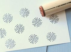 snowflake rubber stamp