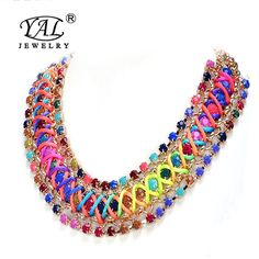 Hot sale new style antique Crystal chain collar necklace Statement bib necklace pendant charm gift Woman dress Accessories-in Torques from Jewelry on Aliexpress.com | Alibaba Group