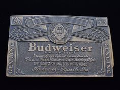 Solid Brass Budweiser Beer Can Label Vintage Belt Buckle Vintage Belt Buckles, Brass Buckle, Style Snaps, Solid Brass, Gifts For Friends, Etsy Store, Label, Beer, Messages