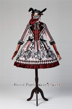 Another Alice~ Classic Lolita Three Quarter Sleeve OP Dress -Pre-order