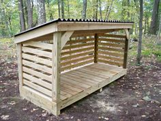 A covered deck for my dogs to hang out on during the summer. I know it's for firewood but...ideas!