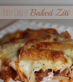 Easy Cheesy Baked Ziti Recipe