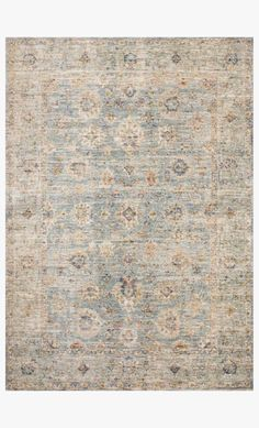 REV-09 LIGHT BLUE / MULTI | Loloi Rugs Forest View, Calming Colors, Simple Elegance, Power Loom, Traditional Rugs, Places To See, Light Blue, Antiques, Walnut Creek