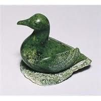 Carved emerald soapstone