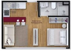 Brilliant Small Apartment Decorating Inspirations on a Budget Studio Apartment Floor Plans, Studio Floor Plans, Studio Apartment Decorating, Apartment Plans, House Floor Plans, House Floor Design, Home Design Floor Plans, Small House Design, Small Apartment Design