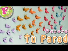DIY: Mariposas Origami! para DECORAR tu pared! - YouTube Origami Diy, Origami Butterfly, Instagram, Ideas, Paper Craft Work, Amor, Paper Butterflies, Butterfly Decorations, Sewing Dolls