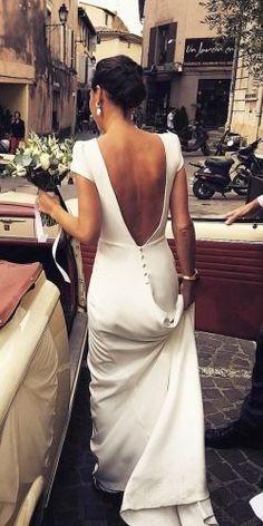 Country Style Wedding Dresses, Best Wedding Dresses, Bridal Dresses, Wedding Gowns, Wedding Bride, Wedding Makeup, Backless Wedding, Tulle Wedding, Dresses Dresses