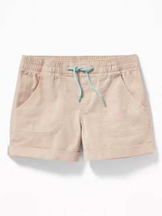 Old Navy Cuffed Twill Pull-On Shorts for Girls , Old Navy Girls, Shop Old Navy, Dog Walking, Short Girls, Sunny Days, Casual Shorts, Style Inspiration, Legs, Cotton