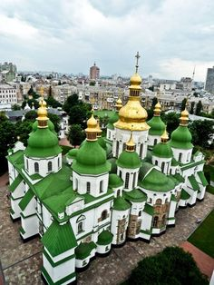 St.Sofia cathedral from bell tower (Kiev, Ukraine)