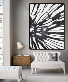 Huge Abstract Painting On Canvas Vertical Canvas by CelineZiangArt