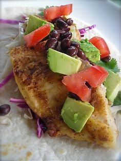 Easy and good Fish Tacos: Really easy - took only about 15 minutes total, and very yum! I feel like you don't even need to put it on tortillas, it's good by itself.