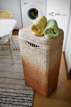 """Prádelní koš s víkem - """"nezralý"""" - 40x30x75cm"""