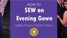 Learn How to sew an evening gown to make a prom dress pattern or just a beautiful Evening Dress to wear at parties. Perfect for fall evening dress pattern. Serger Thread, Serger Sewing, Sewing Tools, Easy Sewing Projects, Sewing Hacks, Sewing Tutorials, Sewing Diy, Sewing Ideas, Evening Dress Patterns