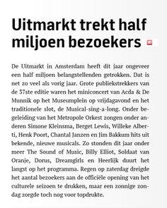 Uitmarkt 2014. © AD, 1 september 2014.