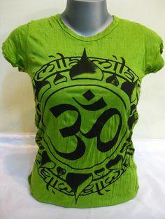 Sure Design Womens Infinitee Ohm T-Shirt Lime $17.50 at http://www.suredesigntshirts.com