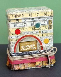 Summer Vacation Accordion Album & ATC Tin by 7gypsies, via Flickr