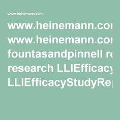 reading research paper www.heinemann.com fountasandpinnell research LLIEfficacyStudyReport2010.pdf