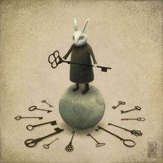 White Rabbit, alice in wonderland Alicia Wonderland, Adventures In Wonderland, Lewis Carroll, Franz Marc, White Rabbits, Rabbit Hole, Rabbit Art, Bunny Rabbit, Key To My Heart