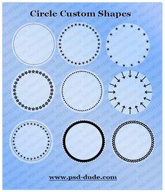 Circle Photoshop Shapes | PSDDude