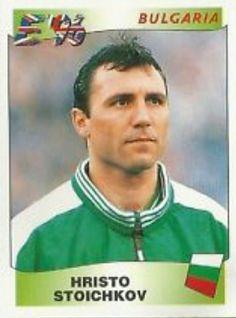 Hristo Stoichkov of Bulgaria. Euro '96 card.