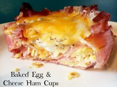 Baked Egg & Cheese Ham Cups