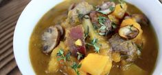 Beef and Butternut Stew with Pear and Thyme #autoimmunepaleo #autoimmuneprotocol