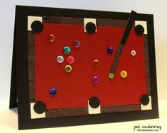 pool table card, Billardtisch Karte
