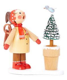 Love this Winter Girl & Bird Incense Burner on #zulily! #zulilyfinds