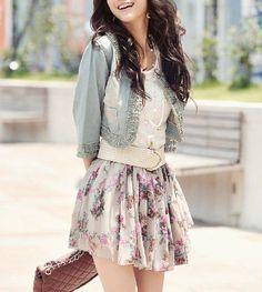 Skirt, Saia, Rock, Denim Jacket, Jaqueta Jeans, Jeansjacke, Spring, Primavera, Frühling.