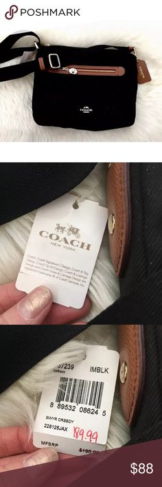 Brand New With Tags Coach New York Canvas Bag Perfect Condition Coach Bags Crossbody Bags