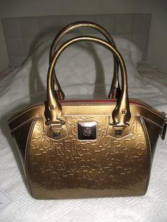 Bolsa Dourada Verniz -victor Hugo