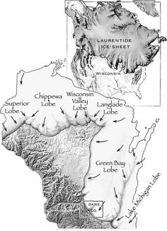 Much of Wisconsin's geography was shaped by glacial processes. #Glaciers #Wisconsin #Geology