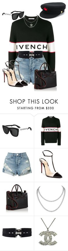 """""""Untitled #2000"""" by styledbyjovonxo ❤ liked on Polyvore featuring Givenchy, 3x1, Christian Louboutin, Off-White, Chanel and Manokhi"""