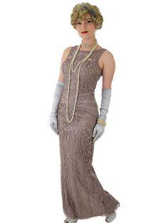 f0946cba0dad Vintage Beaded Gowns Woman Dresses, Women's Fashion Dresses, Prom Dresses,  T Strap Heels. Blue Velvet Vintage
