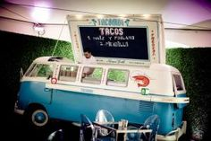 On May 10, Volkswagen launched its new joint dealership with Audi in Manhattan with a rooftop bash. Behind a counter designed to look like a miniature food truck—a VW truck, of course— chefs from Tacombi filled crispy shells with corn, peppers, and seasoned beef. A counter wrapped the side of the mock truck where guests could chow down on their snacks.