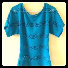 Blue Bebe top! Great condition.  Worn only a few times. bebe Tops