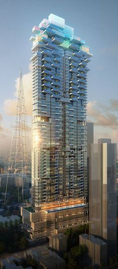 Sky link Tower, Mumbai, India by Callison Architects :: 85 floors, height 301m