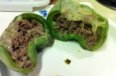 Keto Philly Cheesesteak Stuffed Peppers - 1 carb. So amazing. http://www.wickedstuffed.com/keto-recipes/keto-recipe-philly-cheesesteak-stuffed-peppers/ #keto