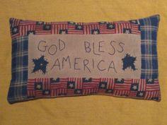 Americana Primitive Pillow Shelf sitter by HomespunCreationsJDC, $11.95