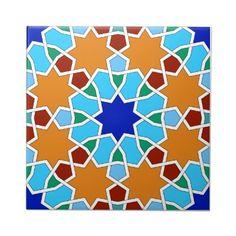 Shop Islamic geometric pattern tile created by moresque. Tile Patterns, Pattern Art, Pattern Design, Star Patterns, Islamic Art Pattern, Arabic Pattern, Geometric Designs, Geometric Shapes, Geometric Patterns