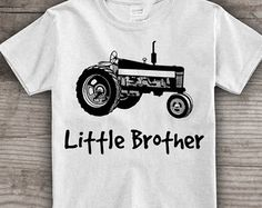 Tractor t-shirt for kids, Little Brother Personalized shirt Youth Clothing tops & tees t-shirts men, youth, baby Christmas gift- A4rev