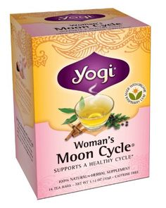 Yogi Woman's Moon Cycle Herbal Tea Supplement, 16-Count Tea Bags (Pack of 6): This is purposefully formulated blend contains herbs traditionally used to help soothe the minor tensions and discomfort of your monthly cycle.
