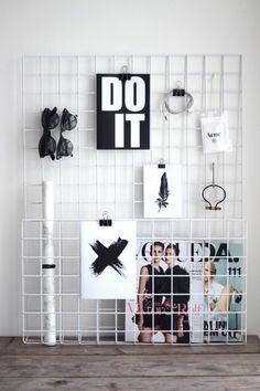 Porta treco de grade. | 30 jeitos de decorar sua casa como você nunca imaginou…