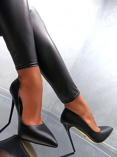 separation shoes 114e6 0aad2 Neu SCHWARZ HOHE Stiletto Pumps Elegant Classic Damen Sexy W63 Schuhe High  Heels  Stilettoheels Zapatos