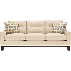 shop for a cindy crawford home montclair vanilla sofa at rooms to go find isofa hidden that will look great in your home and complement the rest of your